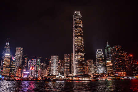 Hong Kong Skyline reflected in the water of the Victoria Harbour