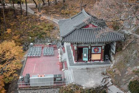 Sunmudo martial art training yard in Golgulsa temple in Gyongju South Korea