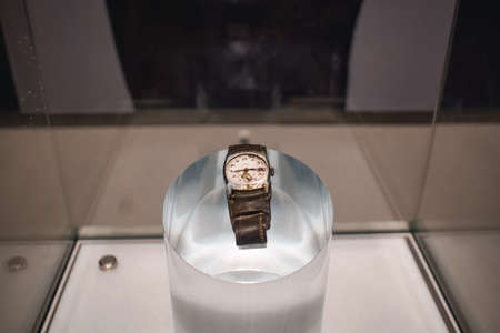 Wrist watch destroyed by the nuclear blast in Hiroshima Japan
