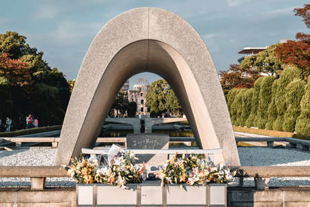 Hiroshima Peace Memorial Park to Victims of the Nuclear Blast of the World War II