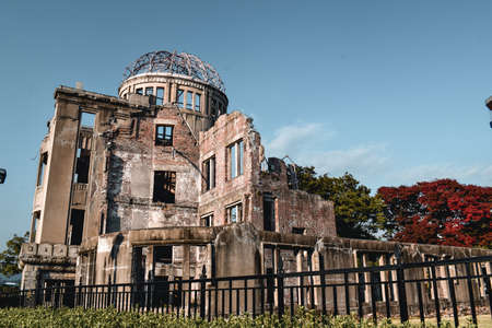 Atomic Dome the only building that survived the nuclear bomb blast in Hiroshima Japan
