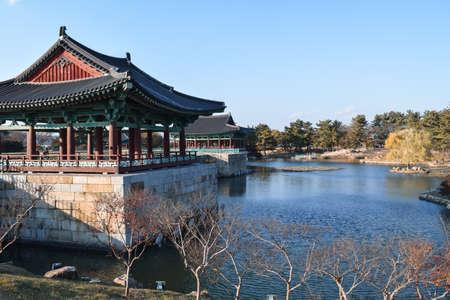 Donggung Palace and Wolji Pond in City of Gyeongju South Korea Sajtókép