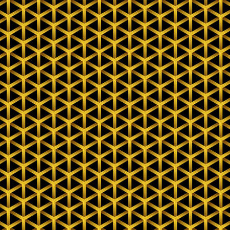Golden Vector pattern and Geometric background, with rhombus and nodes design, Golden texture for geometric pattern styles. Vettoriali