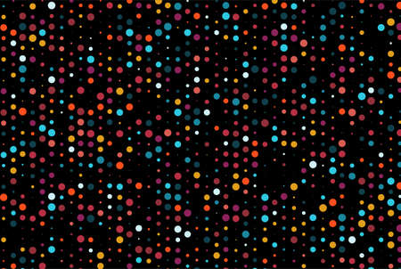 Dark Multicolor wallpaper design with Rainbow vector backdrop with dots and Glitter abstract illustration with blurred drops of circles Completely new template Vektoros illusztráció