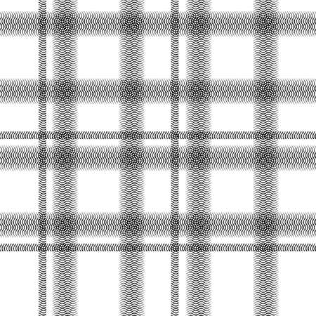 BLACK and WHITE Tartan pattern Scottish traditional fabric seamless and Black on White background and Suitable for children, decoration paper, home, design, concept, clothing, handicraft & scrap booki