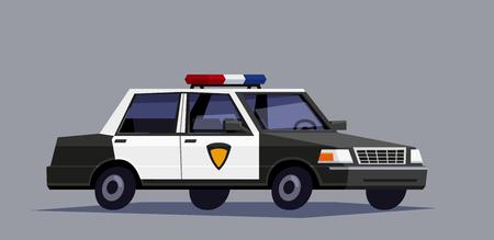 enforce: Vector police car in geometrick design