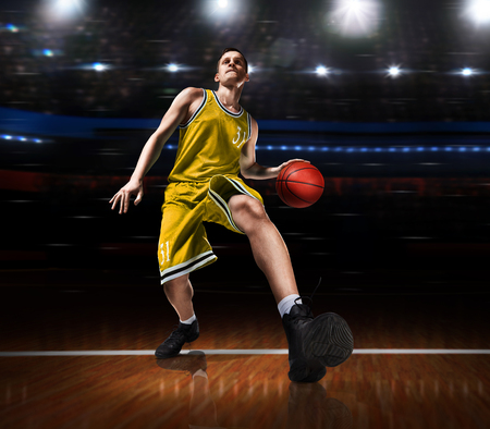 basketball player in action on basketball playground Standard-Bild