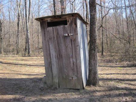 outhouse: Outhouse bathroom in Arkansas Stock Photo
