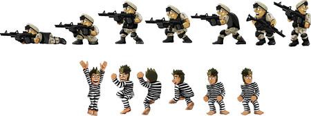 prisoner: Soldier and prisoner
