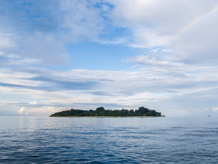 Isolated Sipadan island in Malaysia Stock Photo