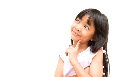 Little Girl on Thinking Stock Photo - 10699685