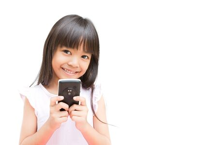 Little Girl with Mobile Phone Stock Photo - 10699684