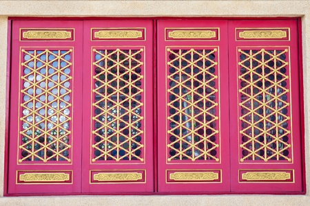 Golden Dragon Chinese Window Stock Photo - 10754946