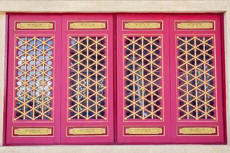 Golden Dragon Chinese Window Stock Photo - 10754946