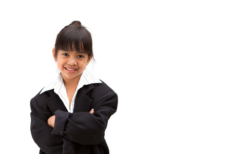 Little girl dressed as a business woman Stock Photo - 10754958