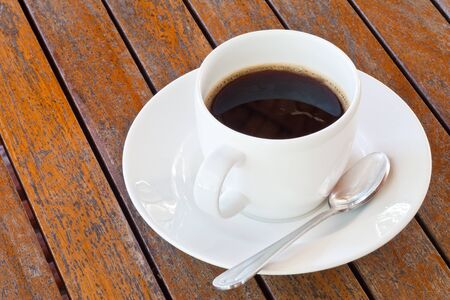 Coffee on Old Wood Table Stock Photo - 10889862