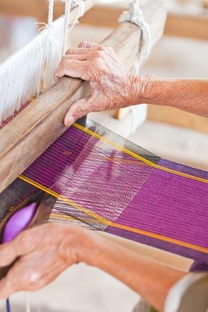 weft: Weave homemade Stock Photo