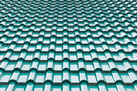 Green color roof tile photo