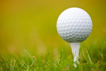 Golf ball on tee Stock Photo - 11979831