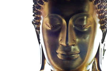Face of buddha statue photo