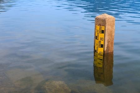 Nivel de agua en la presa