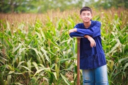 agriculturist: Teenager boy in thailand