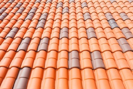 Red color roof tile Stock Photo - 13487399