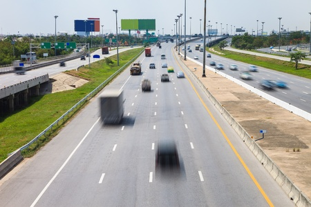 Highway with lots of cars photo