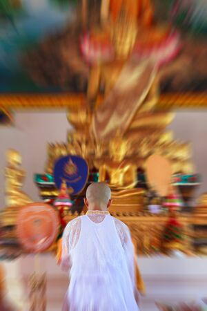 ordinate: Celebration of a new buddhist monk, Thailand Stock Photo