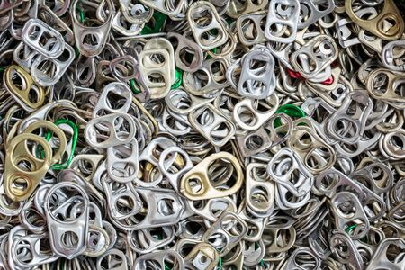Plenty of ring-pulls, may be used as background photo