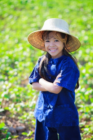 Smiling little girl in thai photo