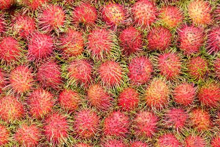 rambutan: Background of rambutan fruit Stock Photo