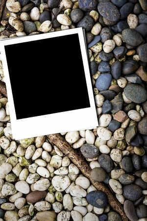Photo paper on rock background Stock Photo - 15184201