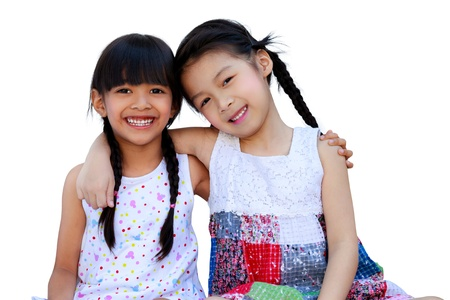 thai teen: Two little girls - best friends