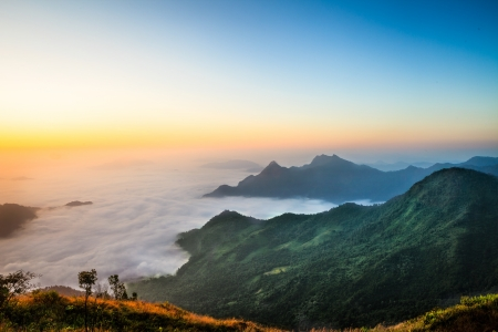 Sea mist, The sea of fog from northern thailand photo