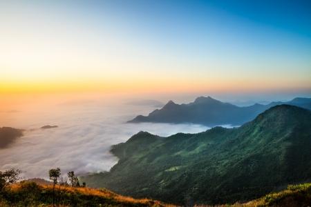 fog foggy: Sea mist, The sea of fog from northern thailand
