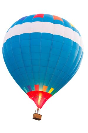 hot colors: Hot air balloon, Isolated over white background with clipping path
