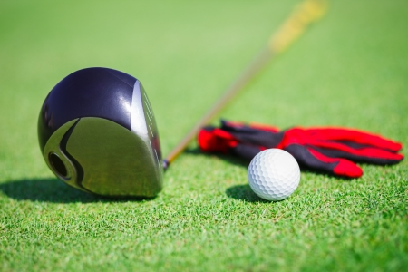 golf glove: Golf in a golf club
