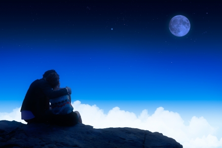 enamoured: Enamoured under the moon in the night
