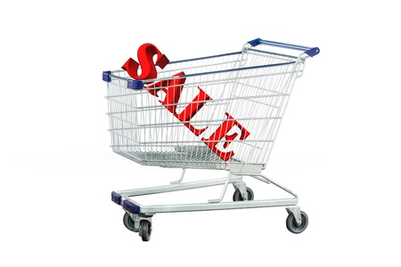 Shopping trolley sale offers in trolley isolated photo