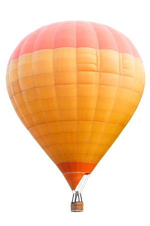 Hot air balloon, Isolated over white background with clipping path photo