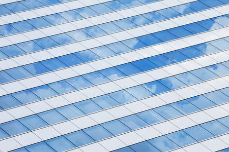 Blue windows of an office with reflection Stock Photo - 19485899
