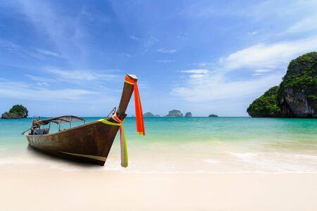 Long boat at beach, Thailand