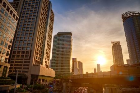 bangkok city: Bangkok City in evening Stock Photo