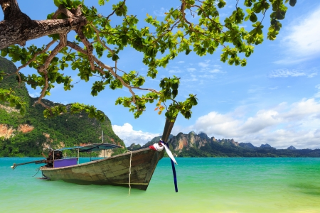 Tropical beach, Krabi, Thailand photo