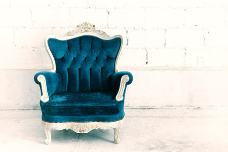 styled interior: Classical style armchair sofa couch in vintage room