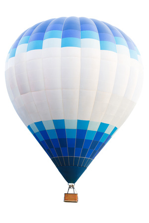 hot air balloon: Hot air balloon, Isolated over white background with clipping path