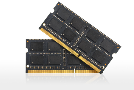 Computer RAM Memory Cards, Isolated over white photo
