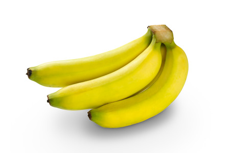 bannana: Bunch of bananas, Isolated over white