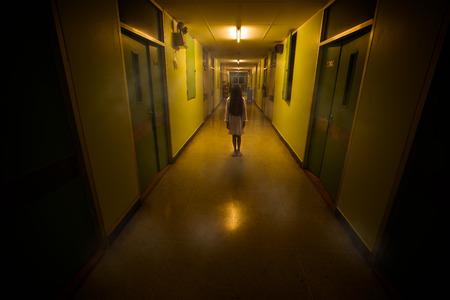 Horror scene of a scary children